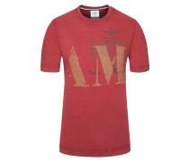 T-Shirt, Regular Fit in Rot für Herren
