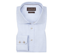 Oberhemd, Custom Fit in Blau für Herren