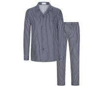 Schlafanzug Satin-Qualität Marine