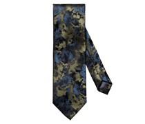 Krawatte mit Muster Oliv