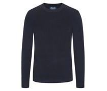 Strick-Pullover aus reinem Kaschmir Marine