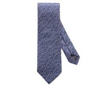 Krawatte mit Rosen-Struktur Marine