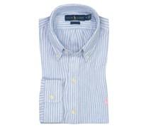 Leinenhemd mit Streifenmuster, Custom Fit