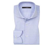 Oberhemd, Slim Fit in Blau für Herren