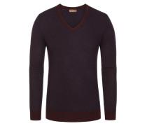 Pullover, Slim Fit in Rot für Herren