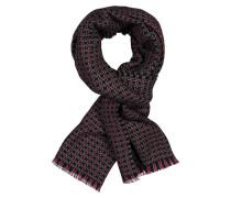 Schal mit modischem Muster aus reiner Wolle in Marine