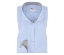 Businesshemd, Slim Fit in Blau für Herren