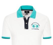 Poloshirt mit Stretchanteil, Slim Fit in Weiss