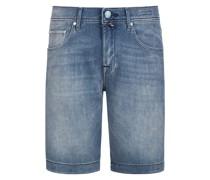 Jeans-Bermuda mit Stretchanteil, J6636 Stone