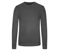Leichter Wollpullover Vintage-Optik Anthrazit