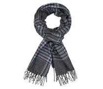 Schal mit Glencheck-Muster, aus reinem Kaschmir in Blau