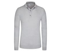 Pullover mit Polokragen, Bradwell, 100% Baumwolle in Grau