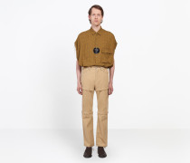 Hose aus Cord mit Reißverschlüssen