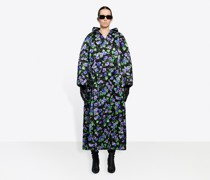 Quilted Cocoon Bow Coat