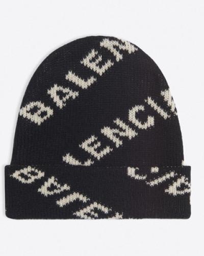 Jacquard-Beanie-Mütze mit Logo