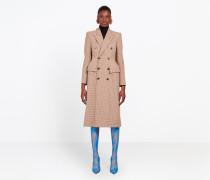 Zweireihiger Mantel in Sanduhrenform