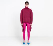 Lurex-Sweater mit Drapierung
