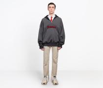 Pullover mit hohem Reißverschlusskragen
