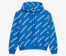 Allover Sporty Logo Small Fit Hoodie