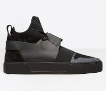 Elastic High Sneakers
