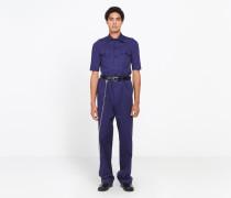 Shrunk-Uniformhemd mit kurzen Ärmeln
