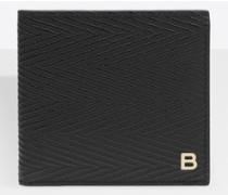 B-Line quadratische Brieftasche mit Fischgrätmuster