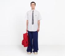 Besticktes Kurzarmhemd mit normaler Passform
