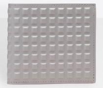 quadratische Brieftasche Gittermotiv