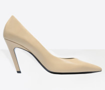 Slash Heel Pumps