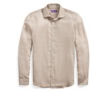 Glencheck-Hemd aus Leinentwill