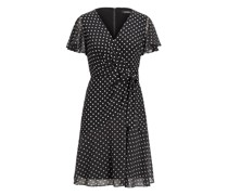 Bedrucktes Jersey-Georgette-Kleid