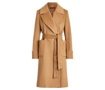 Mantel mit Wolle und Bindegürtel Mantel mit Wolle und Bindegürtel