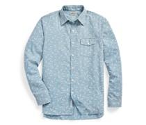 Slim-Fit Paisley-Hemd in Indigo