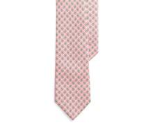 Schmale Krawatte aus Foulard-Seide