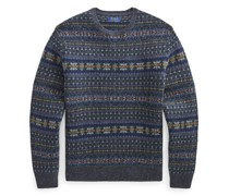 Wollpullover mit Fair-Isle-Muster Wollpullover mit Fair-Isle-Muster