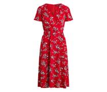 Crêpe-Kleid mit Blumenmuster