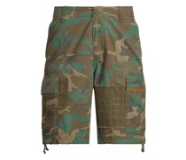 Relaxed-Fit Camouflage-Cargo-Shorts
