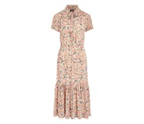 Georgette-Kleid mit Falten Georgette-Kleid mit Falten