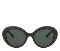 Ovale Sonnenbrille mit Kettendetail Ovale Sonnenbrille mit Kettendetail
