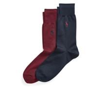 2er-Pack Flachstrick-Socken