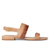 Sandale Kristi aus geprägtem Nappaleder