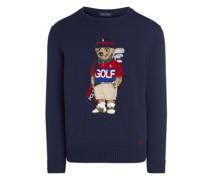 Pullover aus Baumwollmischung mit Golf Bear Pullover aus Baumwollmischung mit Golf Bear