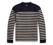 Baumwoll-Kaschmir-Pullover mit Streifen