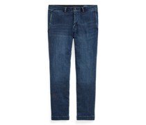 Slim-Fit Stretch-Jeans im Chino-Stil