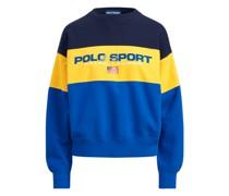 Color-Block-Sweatshirt aus Fleece