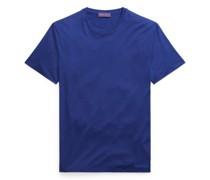 Rundhals-T-Shirt aus Baumwollflorgarn
