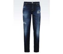 J15 Girlfriend fit Jeans in Dunkler Waschung