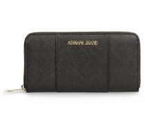 Brieftasche mit Rundum-Reissverschluss und Saffiano-Druck