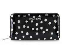 Brieftasche mit Rundum-Reissverschluss und Punktmotiv