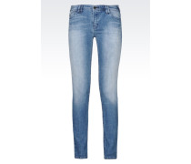 J28 Skinny Jeans in Heller Waschung